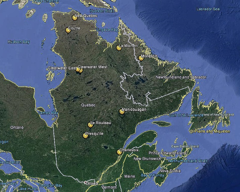 at last count only 10 structures in eastern canada have been verified as meteorite impact structures