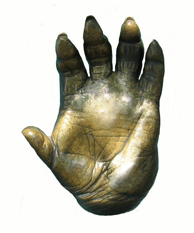 The hand of a gorilla: cast.