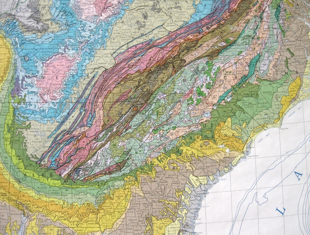 original map is the geologic map of the united states united states geological survey edited by pb king and hm beikman 1974