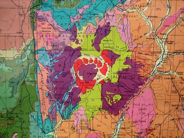 original map is the geologic map of new mexico united states geological survey and the new mexico geological survey ch dane and go bachman 1965